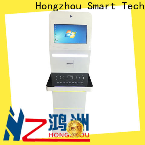 professional library kiosk system with id card reader in book store