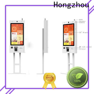 factory price self ordering kiosk with printer for restaurant
