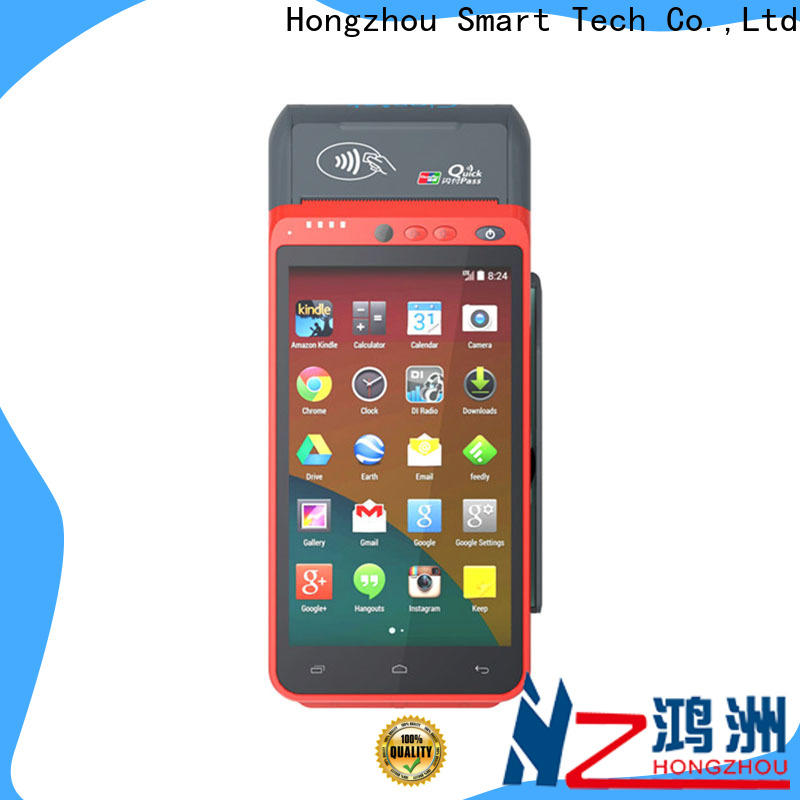Hongzhou mobile pos with barcode scanner in hospital