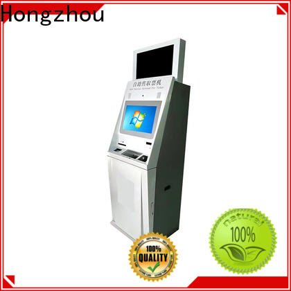 Hongzhou ticket kiosk machine with printer on bus station