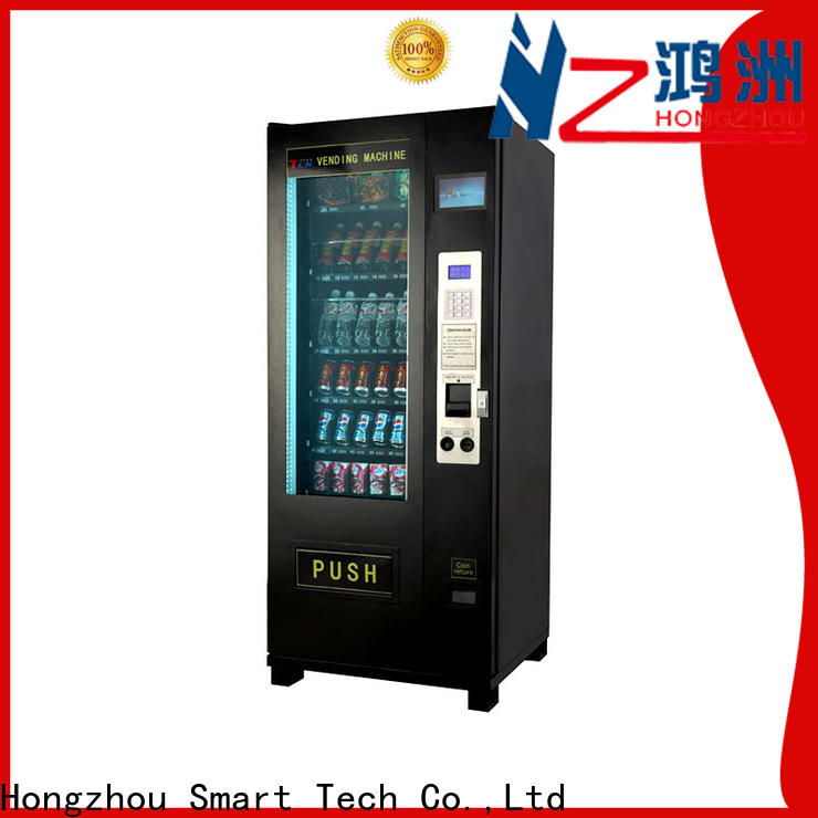 design snack vending machine with barcode scanner for airport