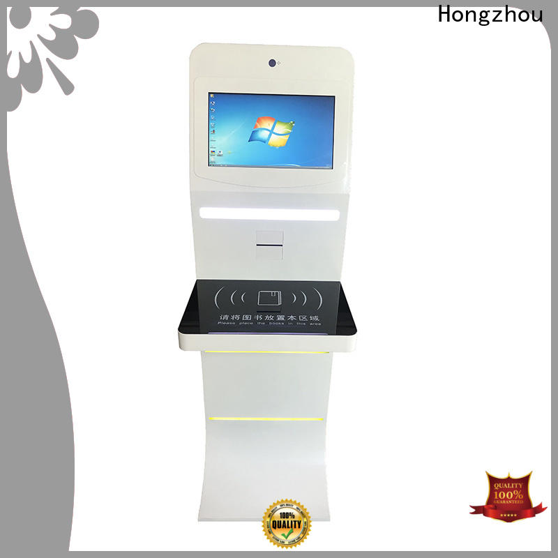 interactive library kiosk system manufacturer for books