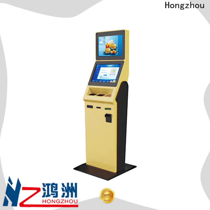 convenient hotel check in kiosk with card reader in hotel