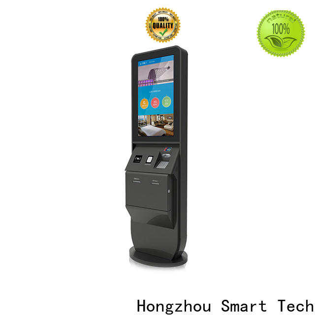 Hongzhou hotel check in kiosk with barcode scanner in villa