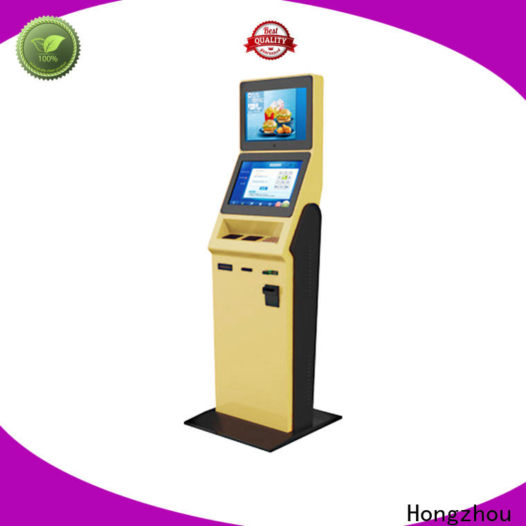 Hongzhou hotel self check in machine with printer for sale
