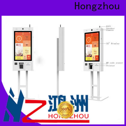Hongzhou self service kiosk with printer for fast food store