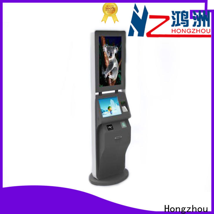 Hongzhou touch screen ticket kiosk machine for busniess for sale