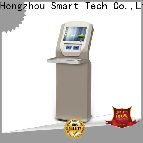 Hongzhou interactive library kiosk system with logo in library