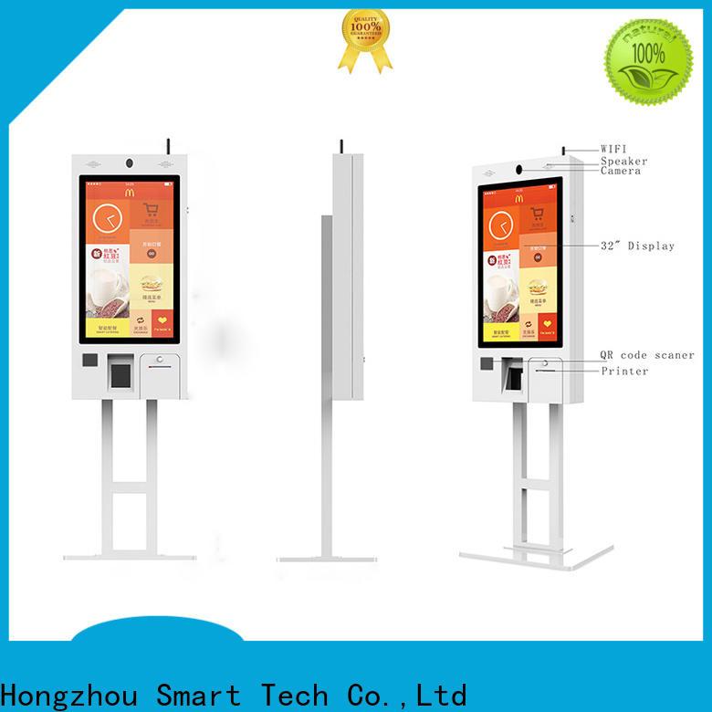 Hongzhou self ordering kiosk with speaker for restaurant