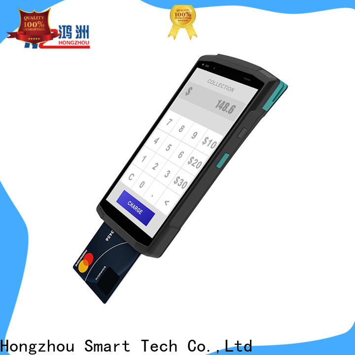 Hongzhou contactless mobile pos machine with printer in library