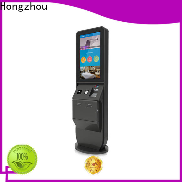 Hongzhou wholesale hotel check in kiosk with printer for sale