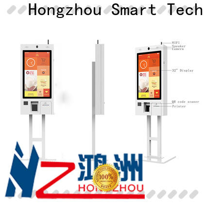 Hongzhou factory price self ordering kiosk with qr code scanner for restaurant