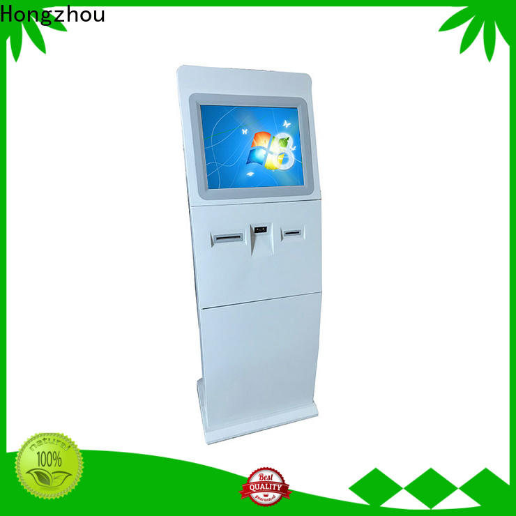 Hongzhou indoor interactive information kiosk with printer in airport