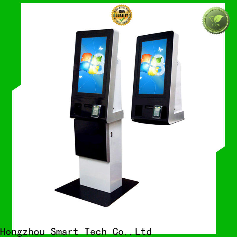 blue kiosk payment terminal with laser printer for sale