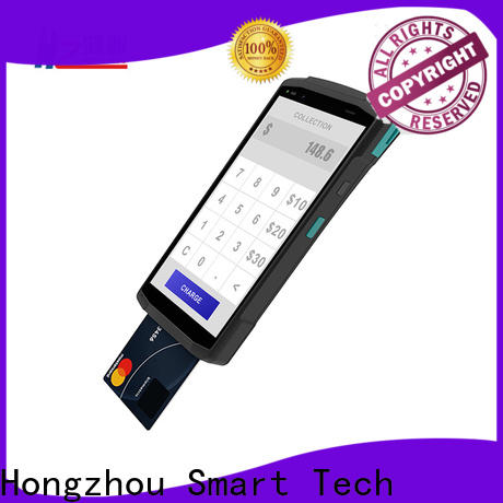latest mobile pos terminal with barcode scanner in hotel