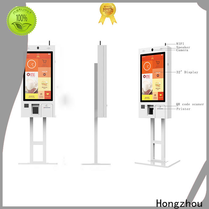 new self service kiosk with printer for fast food store