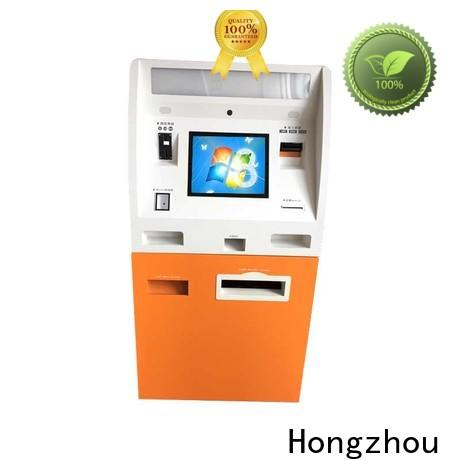 Hongzhou latest self payment kiosk factory in bank