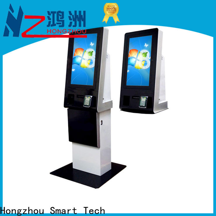 Hongzhou wall mounted bill payment kiosk with laser printer in bank