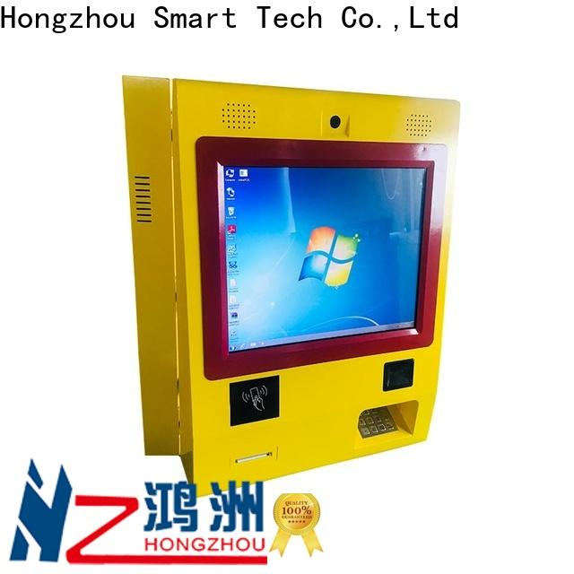 hd pay kiosk with laser printer in bank