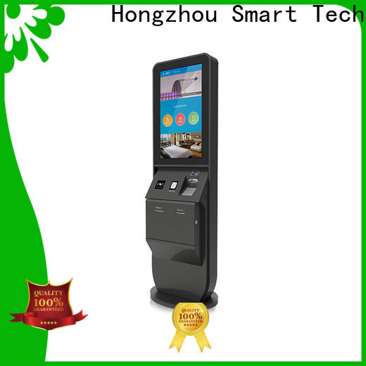 Hongzhou multi function hotel self check in machine with printer for sale
