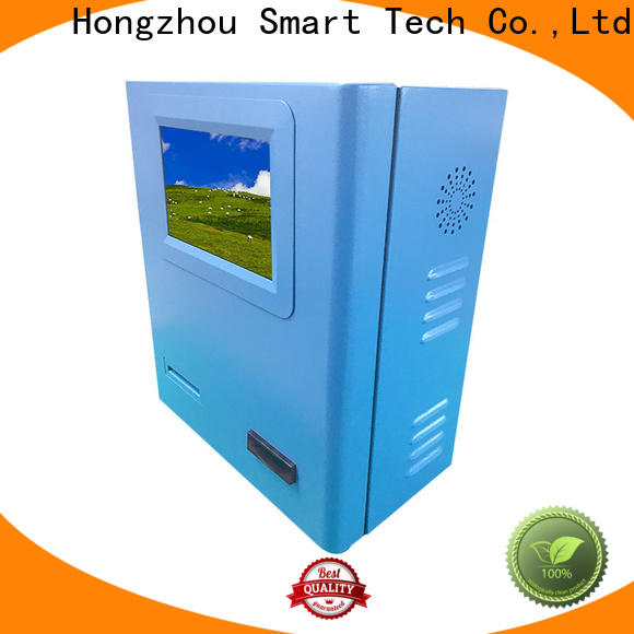 windows system payment machine kiosk with laser printer in bank
