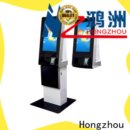 Hongzhou dual screen payment machine kiosk coated in hotel