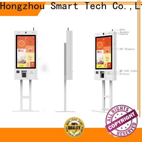 new ordering kiosk with touch screen for restaurant