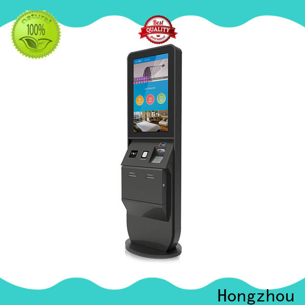 high end hotel check in kiosk with card reader in villa