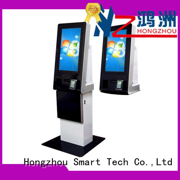Hongzhou metal payment kiosk with laser printer in bank