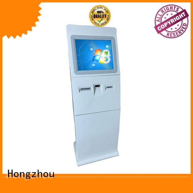 visa information kiosk machine printer in bar