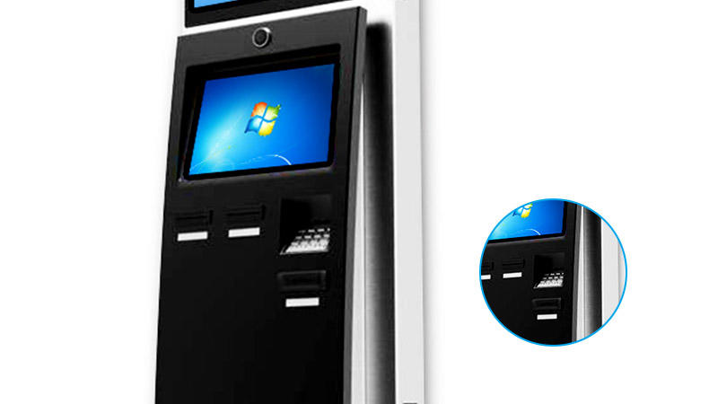 LED inquiry hotel check in kiosk with thermal printer-3