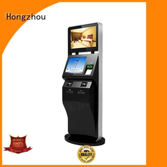 Hongzhou wholesale ticket kiosk machine with wifi on bus station