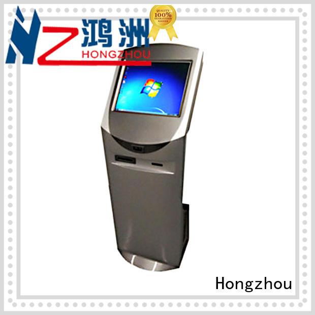Hongzhou information kiosk machine receipt in bar