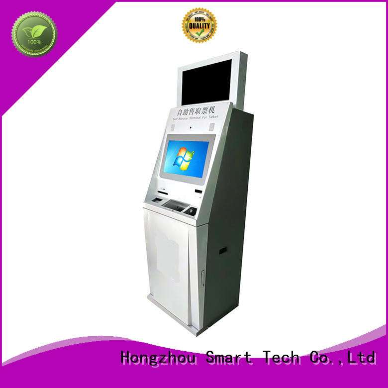 Hongzhou capacitive ticket kiosk machine with printer for sale