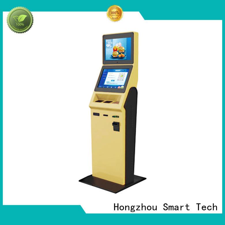 Hongzhou hotel self check in kiosk with card reader in villa