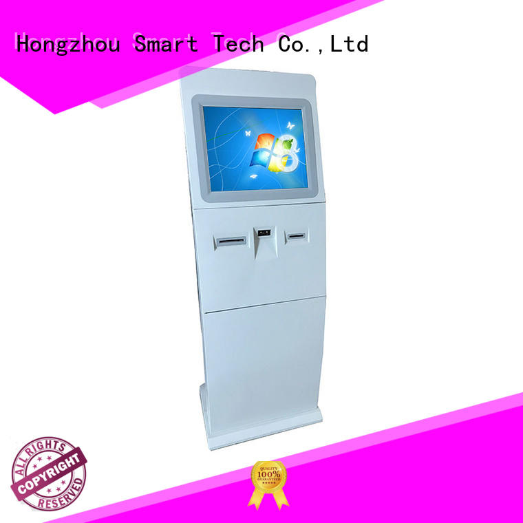 Hongzhou multimedia interactive information kiosk with camera in bar