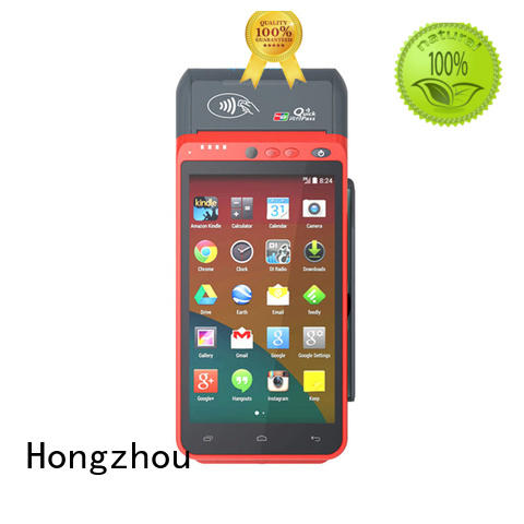 Hongzhou contactless android pos with card reader in hotel