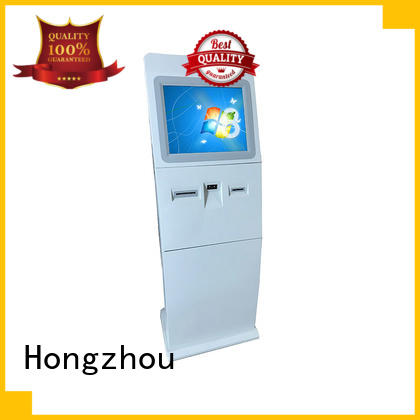 Hongzhou custom information kiosk machine company in bar