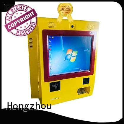 Hongzhou dual screen payment kiosk powder in bank