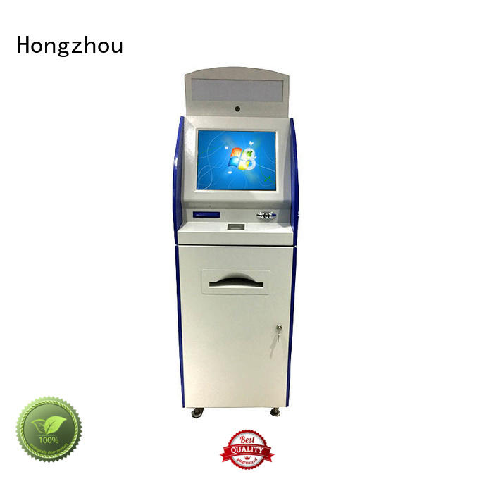 Hongzhou multimedia interactive information kiosk with qr code scanning in airport