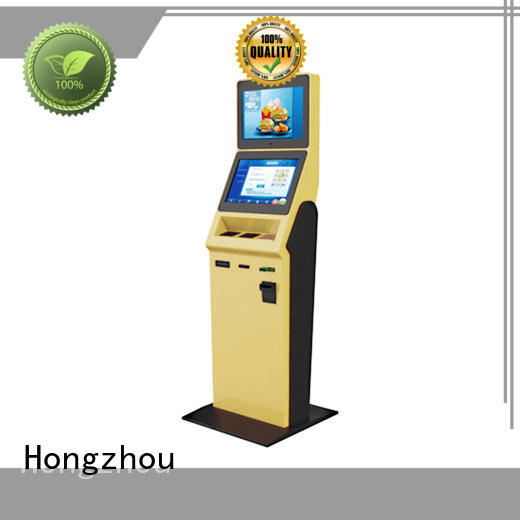 Hongzhou high end hotel self check in machine with card reader for sale