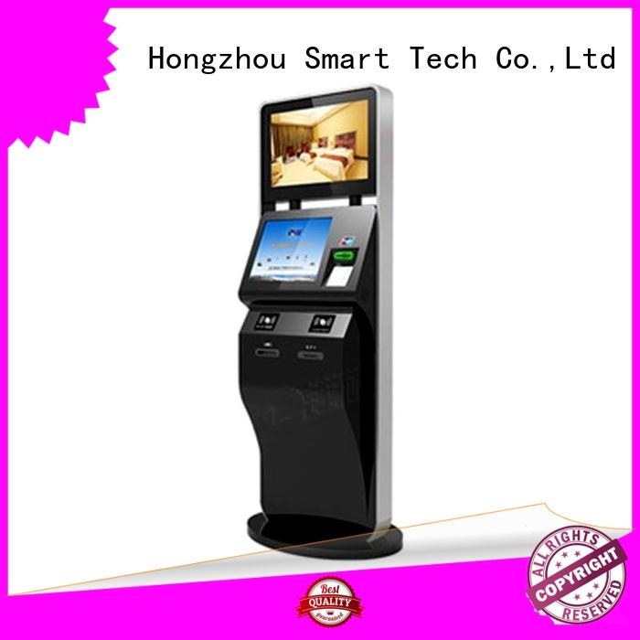 Dual screen ticket printer kiosk with WIFI and camera in cinema