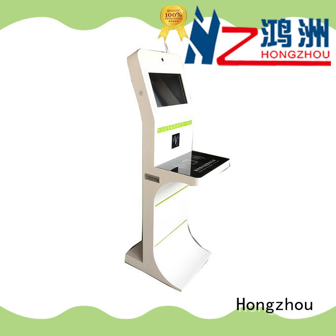 Hongzhou oem library self service kiosk with logo for books
