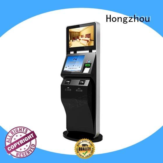Hongzhou capacitive ticketing kiosk with printer on bus station
