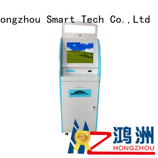 Hongzhou touch screen medical kiosk for line up for sale