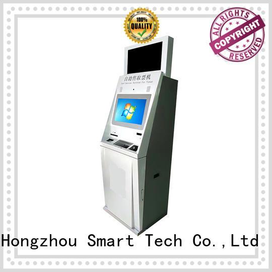 Hongzhou self service ticketing kiosk with printer on bus station