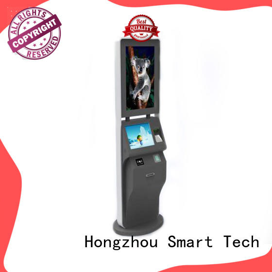 Hongzhou capacitive ticketing kiosk with camera for sale