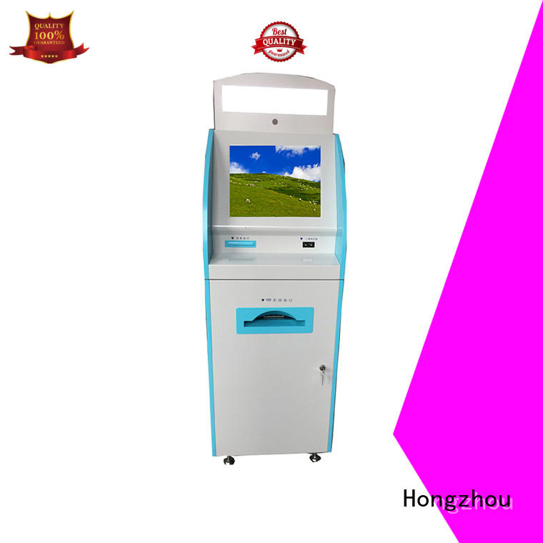 Hongzhou touch screen patient check in kiosk for line up for patient