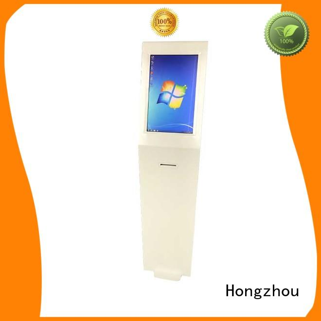 Hongzhou thermal touch screen information kiosk with printer in bar
