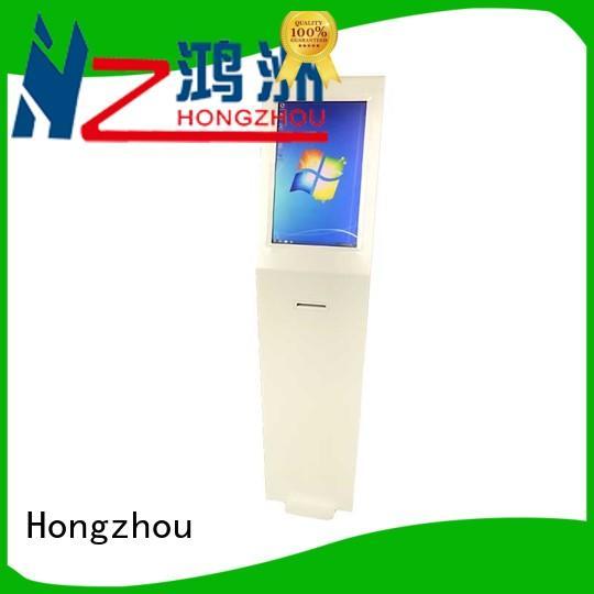 Hongzhou touch screen digital information kiosk factory in airport